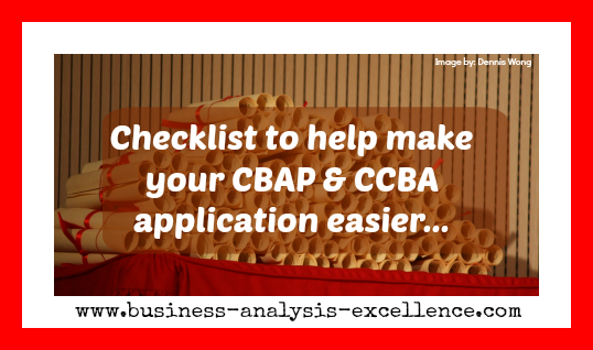 Checklist to help you prepare for your CBAP certification