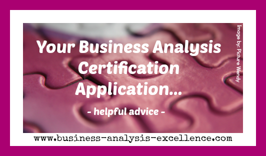 business analysis certification application