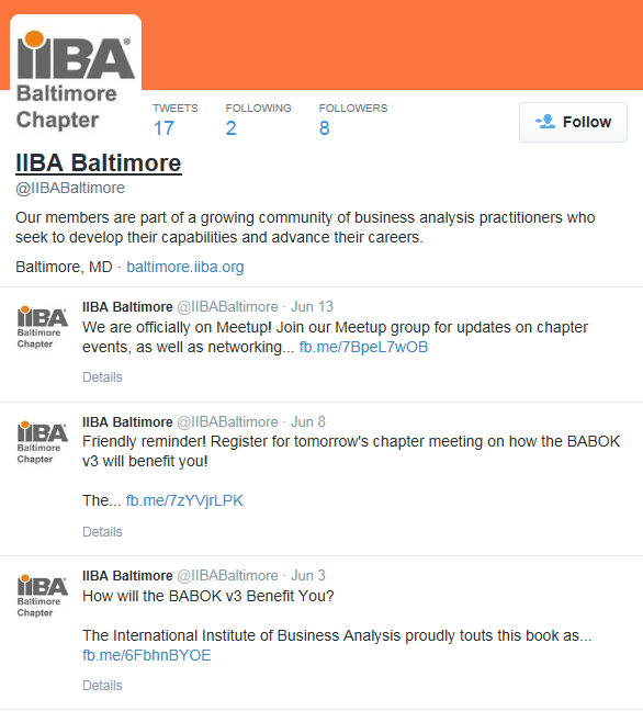 Baltimore Iiba Chapter Business Analysis Excellence